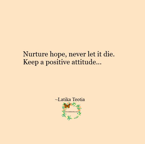 HOPE keeps us going !!!