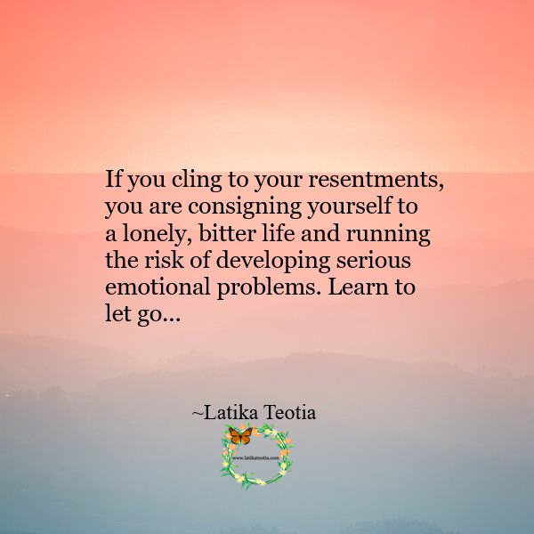 Learn to let go !!!