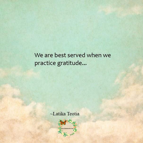 Practice Gratitude !!!